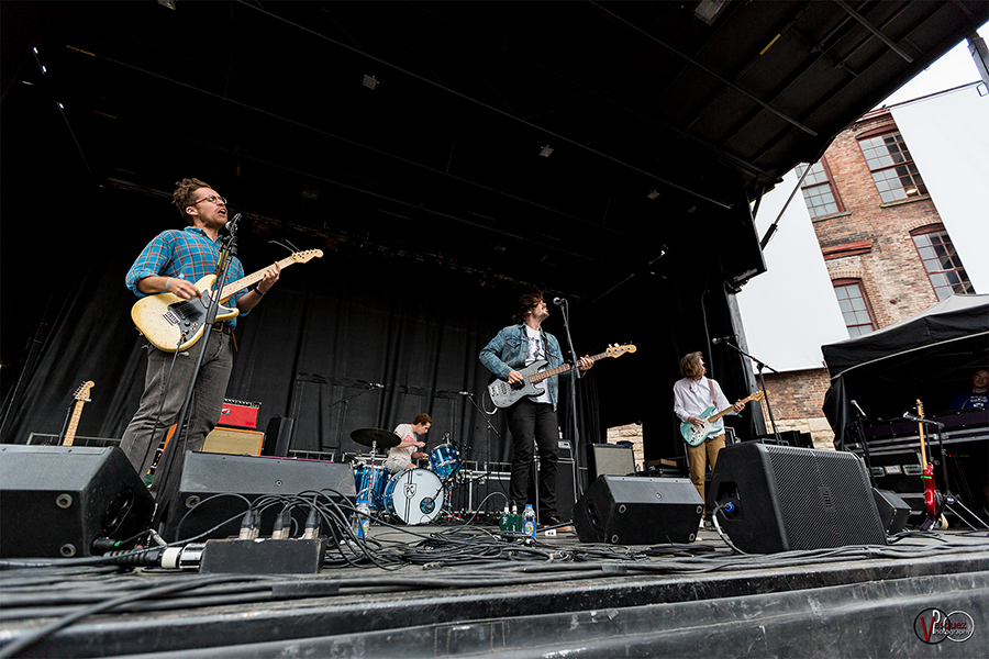 Saturday June 27, 2015 Parquet Courts at Solid Sound Music Festival at Mass MoCA in North Adams, MA.
