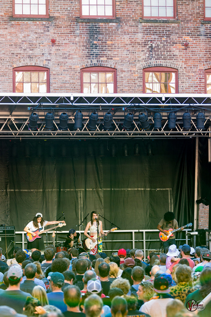 Friday June 26, 2015 Speedy Ortiz at Soild Sound Music Festival at Mass MoCA in North Adams, MA.